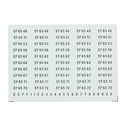 レボリューションファクトリー Nゲージ EF65-0ナンバーインレタ  RLF111