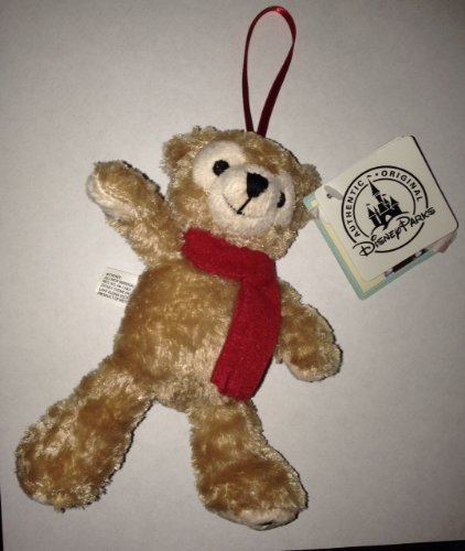 DISNEY MICKEY MOUSE DUFFY BEAR HOLIDAY PLUSH ORNAMENT