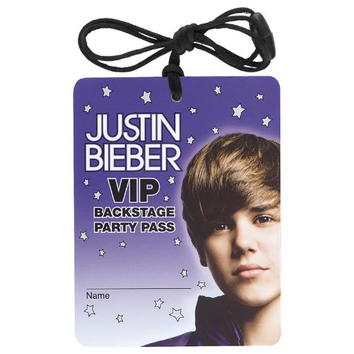 Justin Bieber VIP Necklaces / Favors (4ct) (Justin Bieber Supplies compare prices)