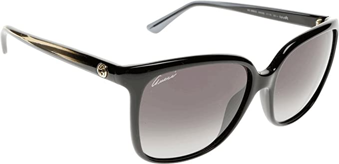 Gucci Gafas de Sol 3696/S HD (57 mm) Negro 57-16-140: Amazon ...