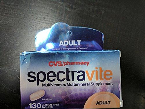 Cvs Pharmacy Spectravite Adult Multivitamin Multimineral Supplement  Gluten Free  1 Bottle Of 130 Tablets