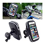 DFV mobile - Professional Reflective Support for Bicycle Handlebar and Rotatable Waterproof Motorcycle 360 º for => IBALL ANDI 3.5F GRABIT > Black