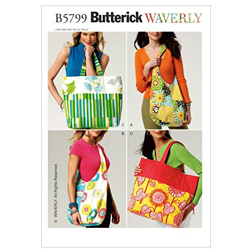 (Butterick Patterns B5799OSZ Market Bags Sewing Pattern, Size One Size)