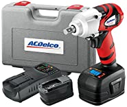 "ACDelco ARI2064B Li-ion 18V 1/2"" Impact Wrench W/ Digital Clutch, 300 ft-lbs, 2 battery included, ETC Tool"