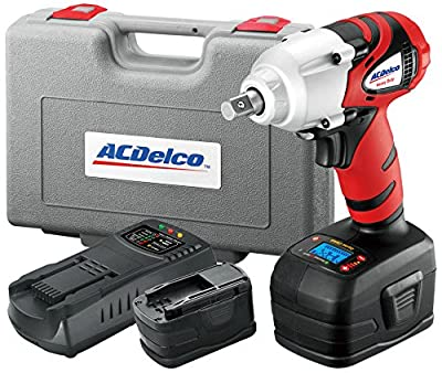 "ACDelco ARI2064B Li-ion 18V 1/2"" Impact Wrench W/ Digital Clutch, 300 ft-lbs, 2 battery included, ETC Tool"