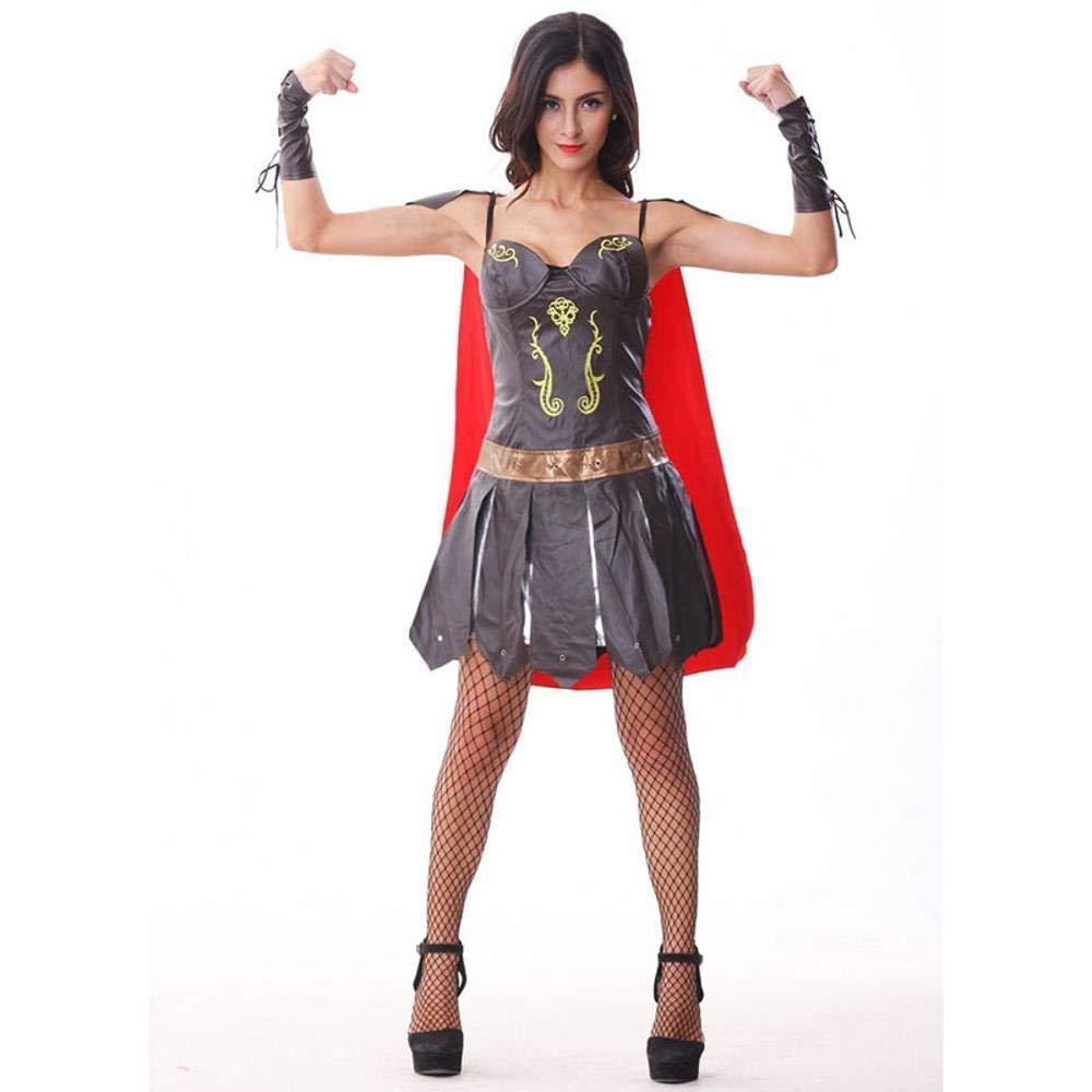 Yunfeng Hexenkostüm Damen Leder Kostüm Masquerade Party Halloweenkostüm
