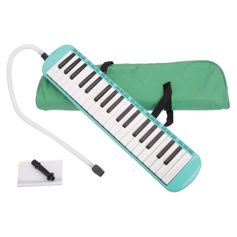 37-Key Melodica Musical Instrument with Blowpipe and Bag