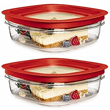 Rubbermaid FG7H76TRCHILI 3-Cup New Premier Food Storage Container (Pack of 2)