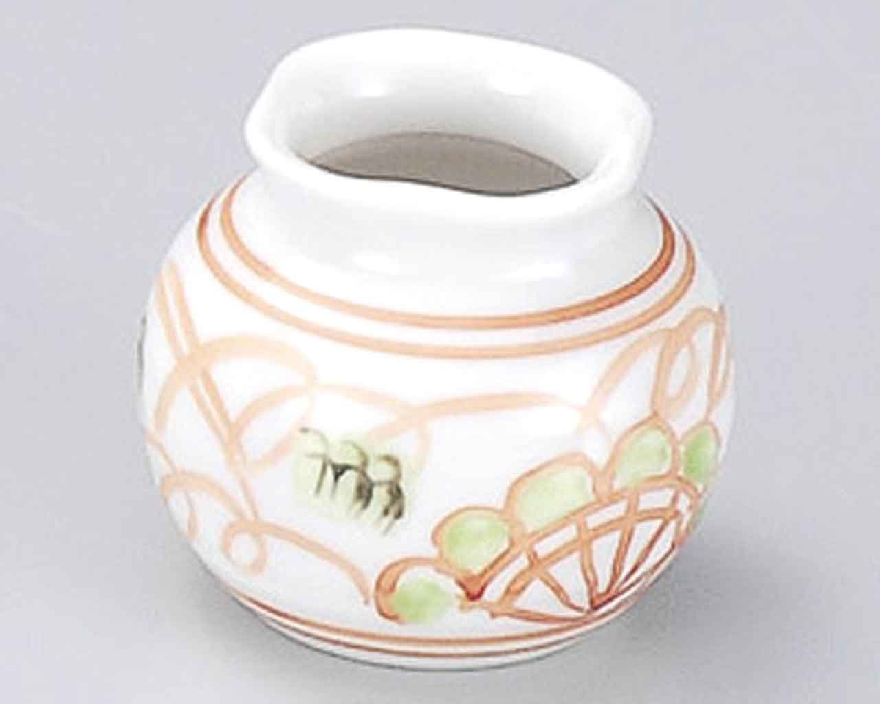 Tansai Flower 2inch Set of 5 Toothpick holders White porcelain Made in Japan