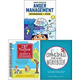 img - for CBT Toolbox for Children and Adolescents [Spiral-bound], Anger Management Workbook for Kids, Coping Skills for Kids Workbook 3 Books Collection Set book / textbook / text book