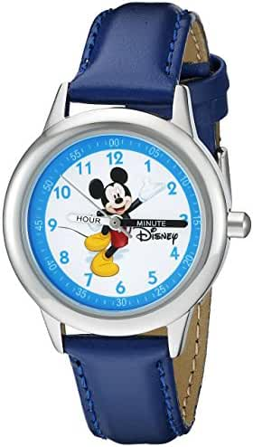 Disney Kids' W000013 Mickey Mouse Stainless Steel Time Teacher Watch