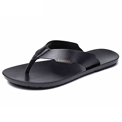 14e53b2c5e8 Image Unavailable. Image not available for. Color  Flip Flops Thongs Korean men s  leather slippers ...