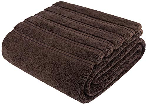 American Soft Linen 100% Organic Turkish Cotton Large, Jumbo Bath Towel 35×70 Premium & Luxury Towels for Bathroom, Maximum Softness & Absorbent Bath Sheet [Worth $34.95] – Chocolate Brown