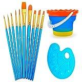 Best Travel Brush For Acryl Oils - Professional Paint Brush Set of 10 - Nylon Review