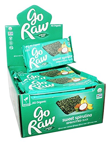 Go Raw - Organic Sprouted Bars Box Sweet Spirulina - 25 Bars