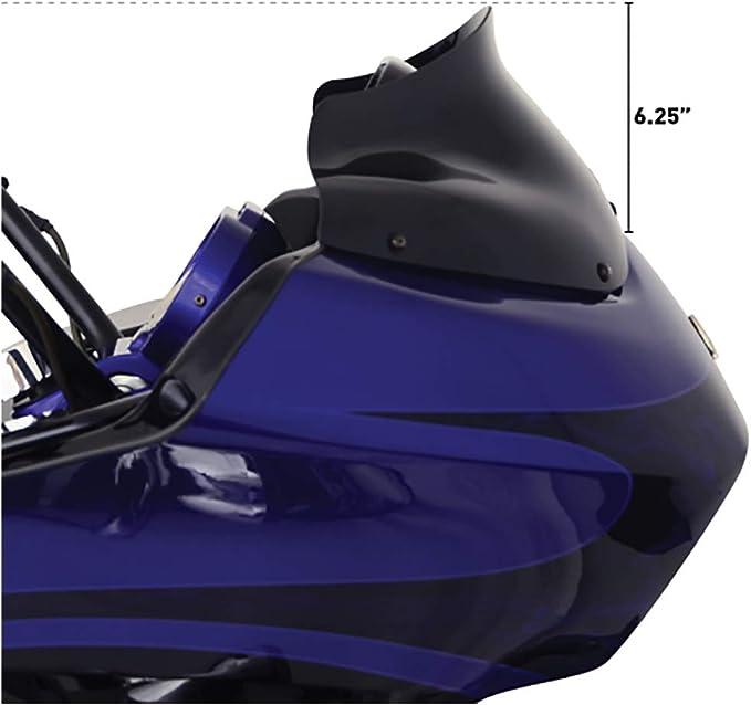 Klock Werks Windschutzscheibe Flare 8 Schwarz Harley Davidson Road Glide 98 13 Auto