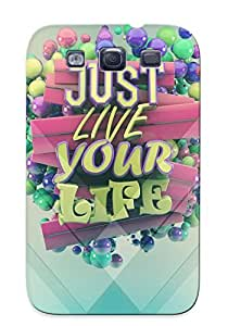 Crazinesswith Brand New Defender Case For Galaxy S3 (just Live Your Life) / Christmas's Gift