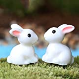 GeoBIX(TM) HOT 2pc Mini Rabbit Garden Ornament Animals Decor Plant Pot Garden Style ping