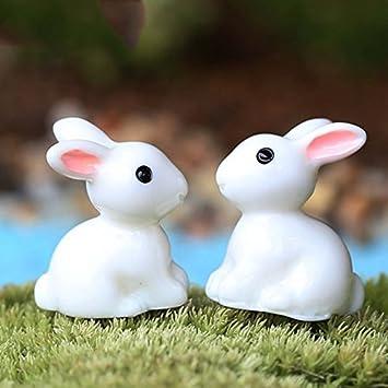 Xumarket Tm 2pc Mini Kaninchen Garten Ornament Tiere Decor