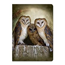 Tree-Free Greetings Journal, 160 Ruled Pages, Recycled, 5.5 x 7.5 Inches, Three Owl Moon, Multi Color (72048)