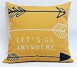 Nordic Aztec Bohemian Arrow Cushion Cover Chic Linen Navajo Southwest Throw Pillow Case Orange House Home Decor Car Cushion 18''