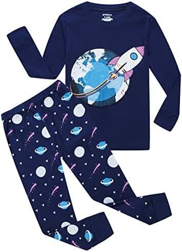Boys Pajamas Dinosaur Little Kids Pjs Sets 100% Cotton Toddler Sleepwears