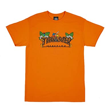 e26c19f0e532 Thrasher Magazine Tiki Logo Men's Short Sleeve Skateboard T-Shirt    Amazon.com