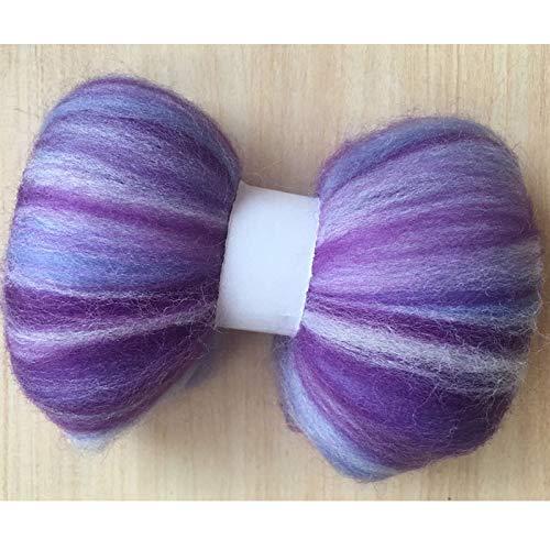 Maslin 100g 150g 200g 300g 500g 50g/Bag Wool Fiber for Felting Mix Color Wool Roving Needlework Felt DIY - (Color: 500g)