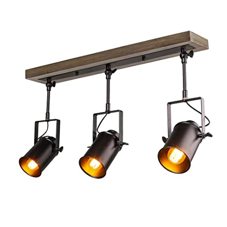 track lighting ceiling. lnc adjustable track industrial wood canopy 3light for ceiling and wall a03185