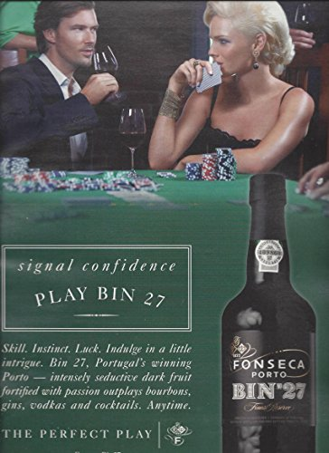 --PRINT AD-- For Fonseca Bin 27 Port: Poker Scene --PRINT AD--