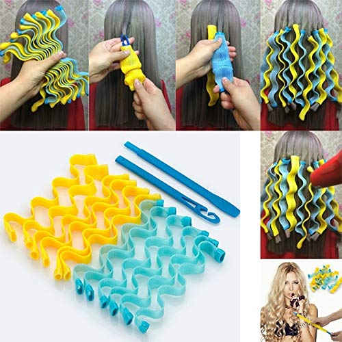 36 Pcs DIY Hair Rollers Night Sleep Hair Curler Styling Rollers Flexible Soft Pillow Hair Rollers - No Heat for Women & Kids (36PCS) by Plohee