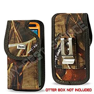 """Heavy Duty Rugged Holster with Metal Belt Clip Iphone 6 Plus 5.5"""""""" for Otterbox Case - Camouflage Camo"""