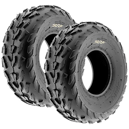Pair of 2 SunF A007 18x7-7 ATV Go-Kart Sport-Performance Tires, 4 PR, Tubeless (4 Wheeler Tires Atv)