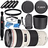 Canon EF 70-200mm f/4L USM Lens 2578A002 + 67mm Macro Close Up Kit + 67mm UV Filter + Lens Cleaning Kit + Lens Pen Cleaner + Fibercloth Bundle