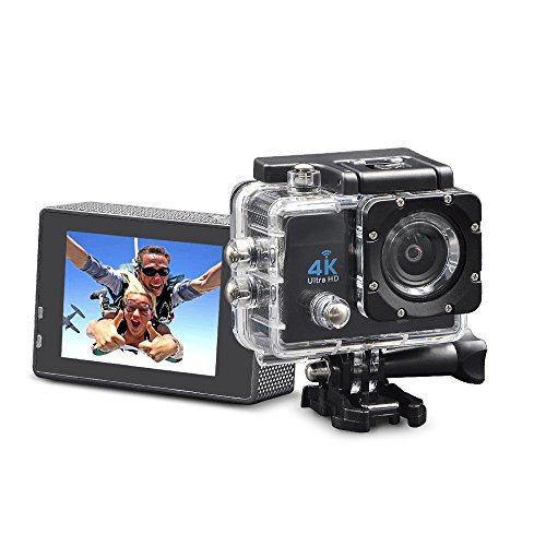 4k action camera wifi underwater camera digital waterproof sports camera 1080P/60fps with 2.4G remote control and 70-170 wide angle lens for kids,drone,snorkeling,helmets,bike,diving and water sports