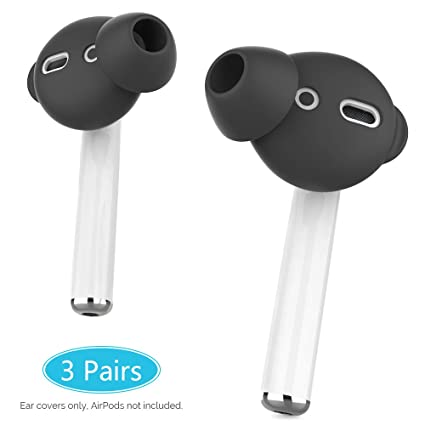 5f0b7247e11 AhaStyle 3 Pairs Ear Tips Silicone Anti-Slip Earbuds Cover Compatible with Apple  AirPods 2
