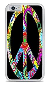 60s Design Peace Sign White 2-in-1 Protective Case Cover For Apple Iphone 4/4S )