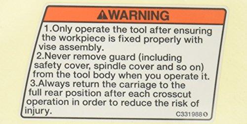 - Hitachi 001035 Warning Label (M) C10FSH