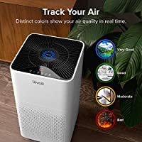 LEVOIT Purifier for Home Large Room with True HEPA Filter Air Cleaner for Allergies and Pets, Smokers, Mold, Pollen, Dust, Quiet Odor Eliminators for Bedroom