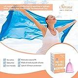 Menstrual Cup for Feminine Hygiene Personal Comfort & Menstrual Period Reusable Menstrual Cup- Medium (Buy 1 Get 1 Free)