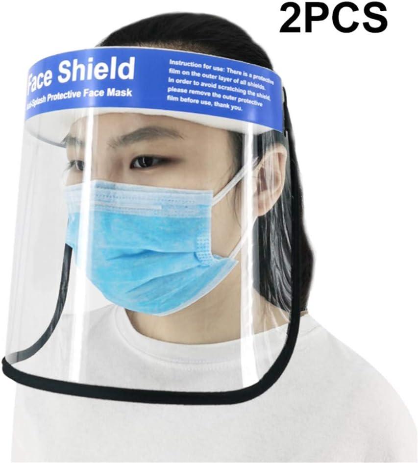 JFJL Protección Facial De Seguridad Proteja Los Ojos Y La Cara con Una Película Elástica De Película Transparente Protectora Y Una Esponja Cómoda, Proteja Los Ojos, La Nariz Y La Boca,2PCS