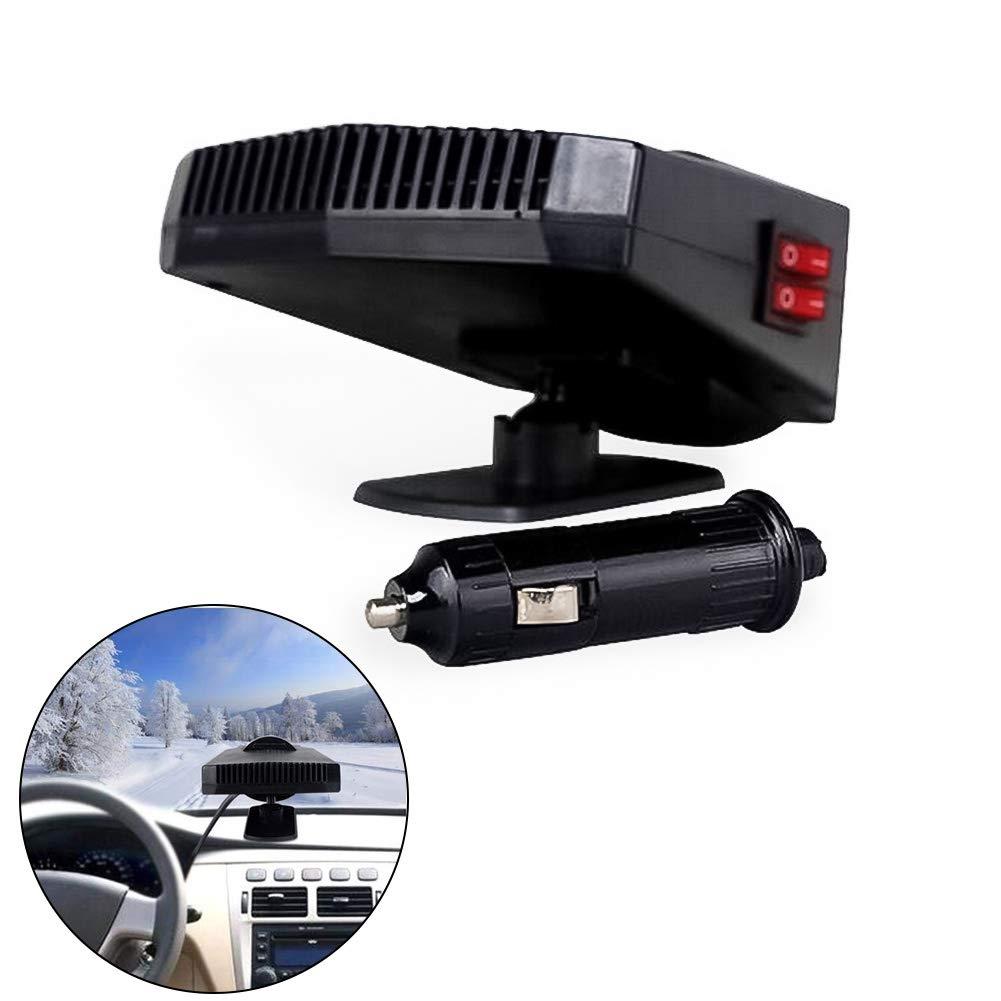 Queta 360° Portable de Voiture Ventilateur Chauffage Ventilateur de Chauffage Voiture Dé givrage et Dé sembuage 12V