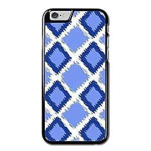 URDesigner Case for iPhone 6, 4.7 inch, Laser Technology,Blue Diamond Ikat Pattern Maple Iphone 6 Slim Case