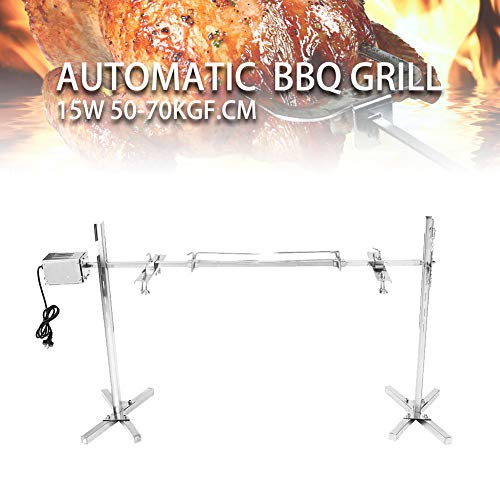 TaiShi 110V Large Camping Grill Rotisserie Spit Roaster Rod Charcoal BBQ Pig Chicken 15W Motor
