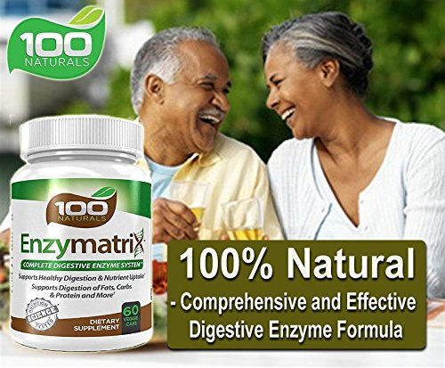 100-Naturals-Enzymatrix-Complete-Digestive-Enzyme-System-Dietary-Supplement-60-Veggie-Capsules