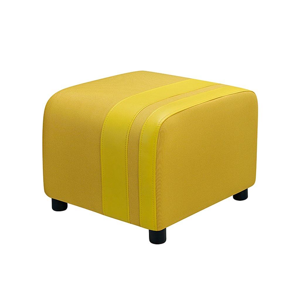 Yellow LIUXUEPING Change shoes Bench Cloth Sofa Stool Change shoes Bench Low Stool Foot Stool (color   Apple Green)