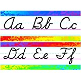 "ARGUS ""Modern Cursive"" Splashy Colors Alphabet Line Bulletin Board Sets (T-8269)"