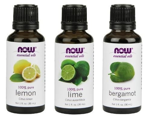 3-Pack Variety of NOW Essential Oils: Fulfill & Uplift- Lemon, Lime, - Candle Bitter Perfume Orange