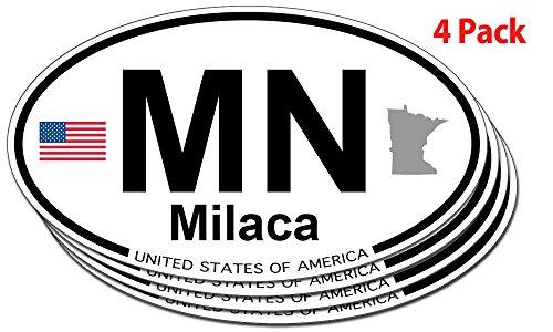 Milaca, Minnesota Oval Sticker - 4 pack