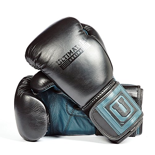 Ultimatum Boxing Genuine Leather Professional Gen3Puncher 14 Oz Bag Gloves, hook-and-loop closure by Ultimatum Boxing